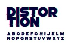 Trendy style distorted glitch font Stock Images