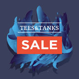 Trendy styled vector web banners for online stores promotion. Stock Image