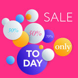 Trendy styled vector web banners for online stores promotion. Royalty Free Stock Photo
