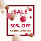 Trendy styled vector web banners for online stores promotion. Royalty Free Stock Photography