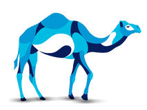 Trendy stylized illustration, camel, line vector silhouette of , stock illustration