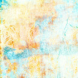 Trendy Summer  Art Background. Grunge Colorful  Textured Backdro Royalty Free Stock Photos
