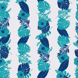 Trendy Summer monotone  tropical in stripe line with leaves outl. Trendy Summer monotone  tropical in vertical stripe line with leaves outline ,leaves and Stock Images