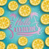 Trendy summer poster Stock Photo