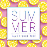 Trendy summer poster Royalty Free Stock Photos