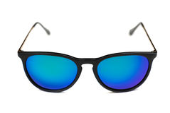 Trendy sunglasses with blue lenses. Royalty Free Stock Photos
