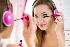 Trendy teen girl makeup Royalty Free Stock Photos