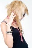 Trendy teenage girl stock image