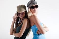 Trendy teenage girls Royalty Free Stock Photos
