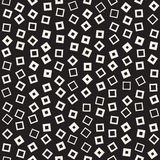 Trendy Texture With Scattered Geometric Shapes. Vector Seamless Pattern. Royalty Free Stock Photography