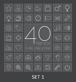 40 Trendy Thin Line Icons for Web and Mobile. Set  Stock Images