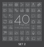40 Trendy Thin Line Icons for Web and Mobile. Set  Stock Photo
