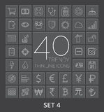 40 Trendy Thin Line Icons for Web and Mobile. Set  Royalty Free Stock Photo