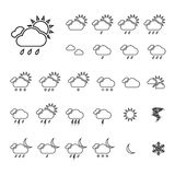 Trendy Thin Weather Icon Set Royalty Free Stock Photo