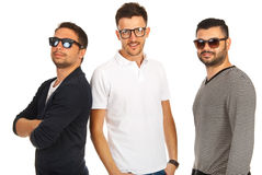 Trendy three friends Stock Image