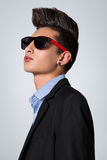 Trendy Tiener met CREST van het Haar stock fotografie