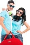 Trendy travelers Stock Image