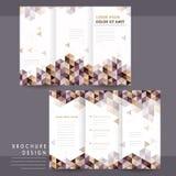 Trendy tri-fold template design Stock Photography