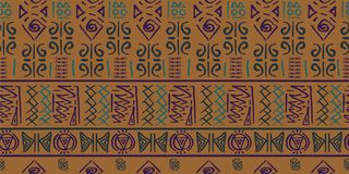 Tribal pattern vector with seamless egyptian symbol ancient style. Vintage illustration background for fashion textile print and w. Trendy Tribal pattern vector vector illustration