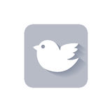 Trendy twitter bird social media icon. Royalty Free Stock Images