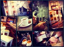 Trendy urban cafe Royalty Free Stock Photo
