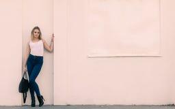 Trendy urban girl outdoors Royalty Free Stock Photo