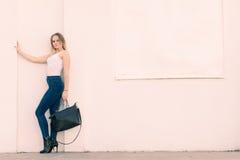 Trendy urban girl outdoors Stock Photo