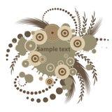 Trendy vector bloemenontwerp vector illustratie