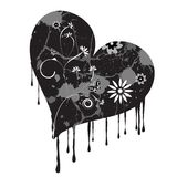 Trendy vector grunge heart royalty free stock image