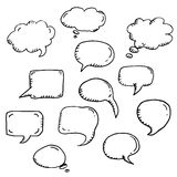 Trendy  vector message or chat icon or bubble Stock Photo