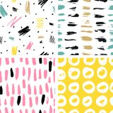 Trendy vector seamless colorful pattern with brush strokes. Vector illustration. Trendy vector seamless colorful pattern with brush strokes. Design backgrounds vector illustration