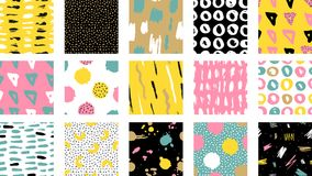 Free Trendy Vector Seamless Colorful Pattern With Brush Strokes.Vector Illustration Stock Images - 124479884