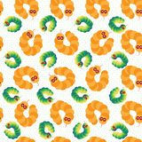 Trendy vector and tropical snakes seamless pattern royalty free illustration