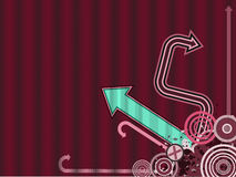 Trendy VectorAchtergrond van de Pijl stock illustratie