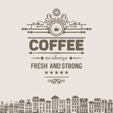 Trendy vintage  coffee badge,label Royalty Free Stock Photo