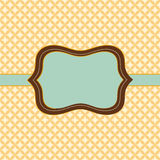 Trendy vintage styled badge. Card template - Badge with vintage style and Japanese inspired geometric background Royalty Free Stock Photos