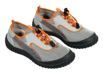 Trendy walking shoes on white Royalty Free Stock Photography