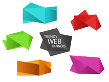 Trendy web banners Royalty Free Stock Photo