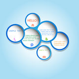 Trendy web design bubble Stock Photos