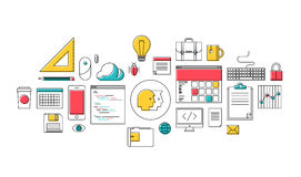 Trendy web design and programming icons Royalty Free Stock Photo