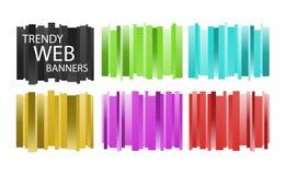Trendy Webbanners vector illustratie