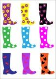 Trendy Wellington Boots stock illustration