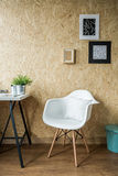 Trendy white chair Stock Photography