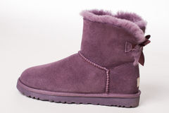 Trendy winter boots. Stock Images