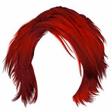 Trendy woman disheveled hairs red colors . beauty fashion . royalty free illustration