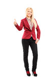 Trendy woman giving a thumb up Royalty Free Stock Photo