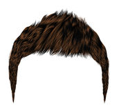 Trendy man hairs.brunette brown color.beauty style.realistic  3d  Royalty Free Stock Photo