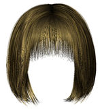 trendy  woman  hairs bob kare fringe   blond    beauty style  3d . Royalty Free Stock Image