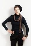 Trendy woman posing Stock Photo