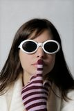 Trendy woman in sunglasses Stock Image
